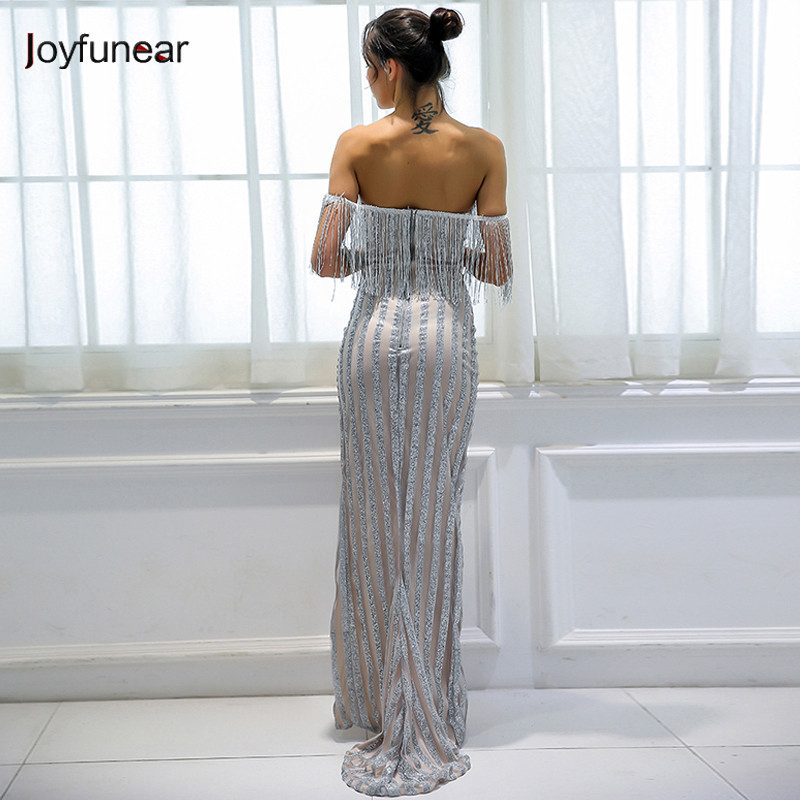 Joyfunear Sequin strap backless party dress female Summer sexy club women  dress 2018 vintage wave maxi dress robe femme vestidos