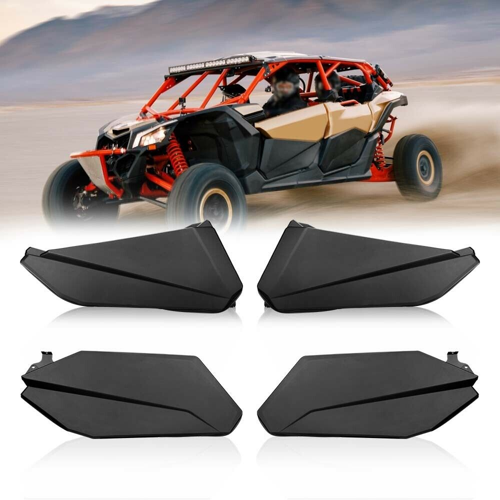 Front /& Rear UTV ATV 4X Lower Doors Panels Kit Set For Can Am Maverick X3 Max