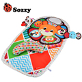 Baby Toys Activity Game Playmat Carpet Roller Climbing Pillow Soft Panda Elephant Rattles Mobile Plush Toy For Newborn Babies