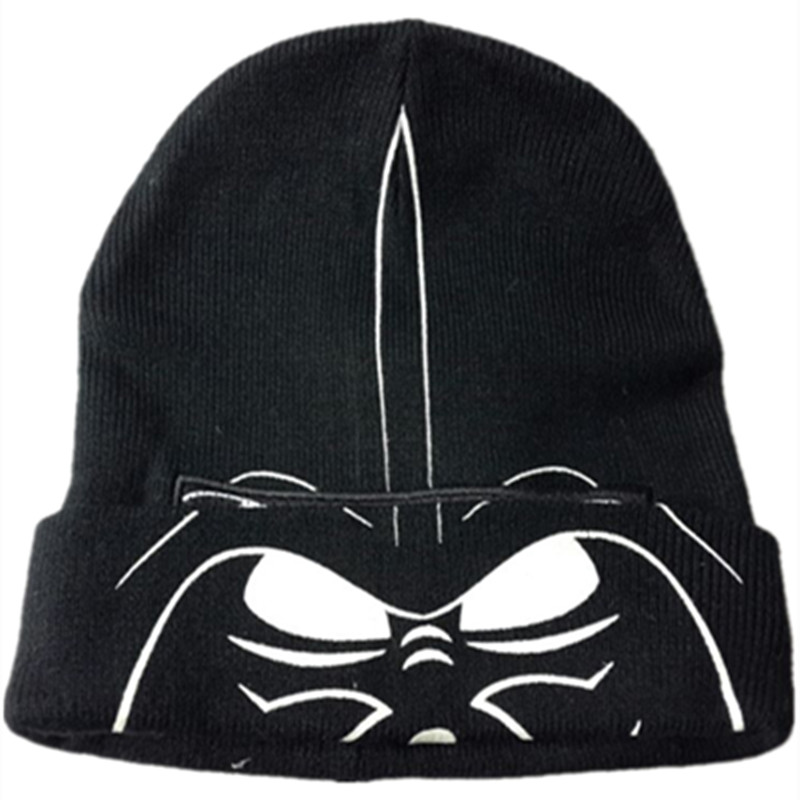 Stormtrooper Knitting Cotton Beanie Cap Plush Winter Warm Darth Vader Hat Cosplay mask Beanies fit for adult Children free ship