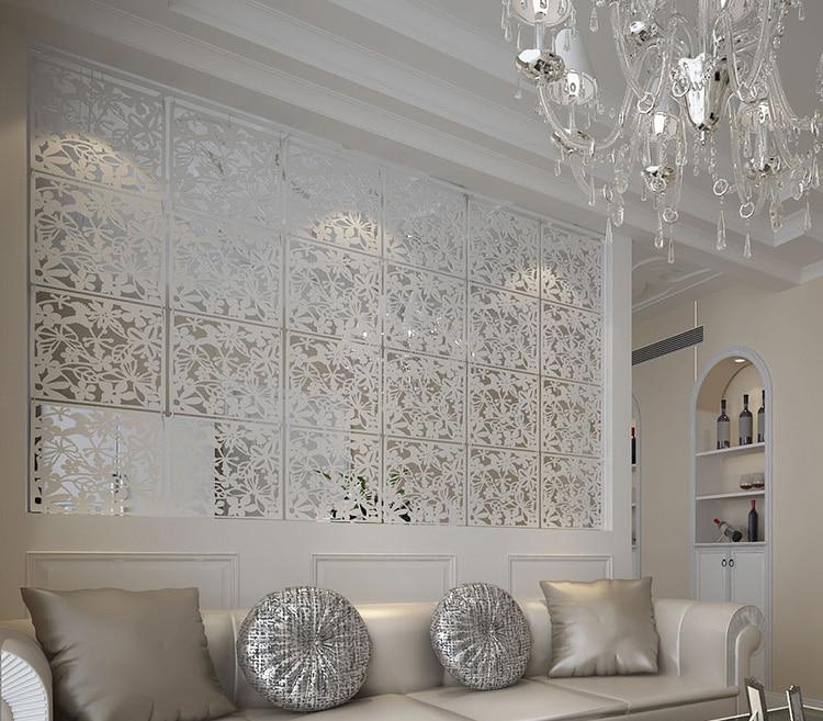 US $20.52 10% di SCONTO|Pannelli di parete appeso legno cavo tenda mobile  dello schermo ingresso soggiorno minimalista moda Cinese schermo ...