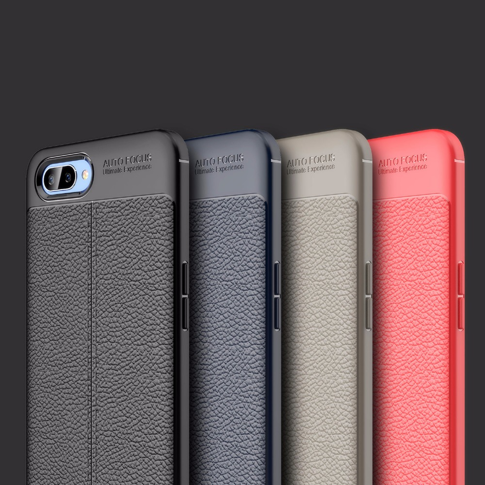 A5 Case Lmitation leather Slim Matte Back Cover For OPPO A5 Case soft silicone TPU Cover For OPPO A 5 A5 Phone Case