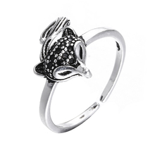 Promotion fashion retro style little cute fox animal thai silver female 925 sterling silver ladies`finger party rings women ring цена и фото