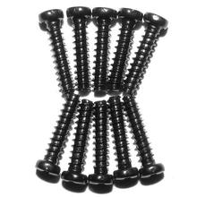 10Pcs 2.3 x 10mm Round Head Screws Supplies S911 RC Truck Car Racing Truggy Toy Accessories Fitting Parts