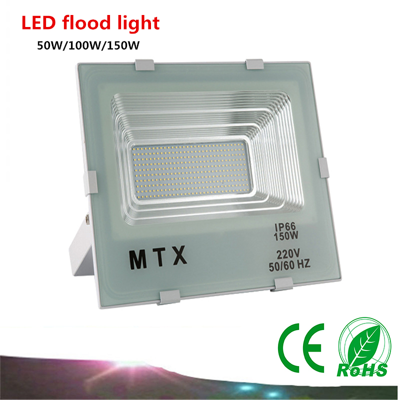 6X DHL LED Flood Light AC85-265V 50W/100W /150W LED lamp IP65 LED Waterproof Advertising Lamp Garden Square Lighting