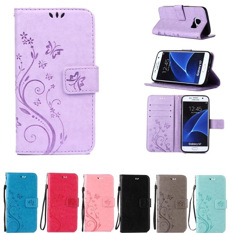 For Samsung Galaxy A3 A5 J1 J3 J5 2017 2016 2015 S5 Mini S6 S7 S8 Edge Plus J3 J5 J7 Prime G531H Leather Phone Case Back Cover
