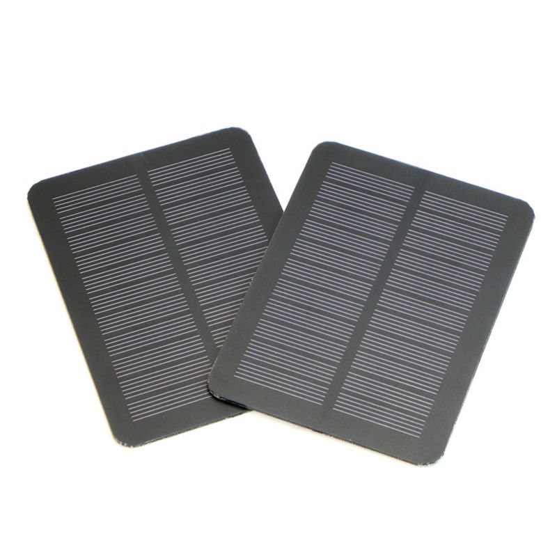 Mini Portable Solar Panel 5V Monocrystalline Solar Panel DIY Solar Charger for Phones and other 5V devices.