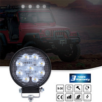 Led Light Bar ROUND Sahpe LED Geadlights 2pcs Work Light Front LAMP Pods 4 Inch Spot Beam Offroad Driving  90W 6000K 30V PMMA