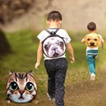 Children School Bags Cute 3D Animal Cat Dog Schoolbag For Girls Casual Kids Women Shoulder School Book Bag Mochila Escolar