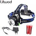 z30 hot sale LED Headlight T6 led headlamp zoom Head lights head lamp 2800lm XML-T6 18650 Rechargeable zoomable LED light