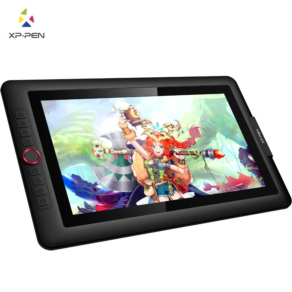 XP-PEN Artist15.6 Pro Gráfico tablet Gráfico Digital monitor de tablet Mostrador Vermelho com graus de inclinação da função e 8 60 express chaves