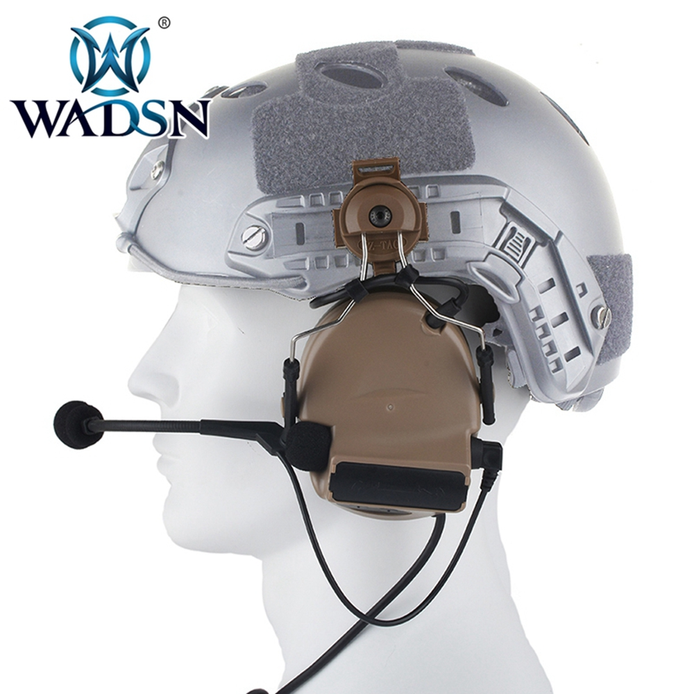 Image 4 - WADSN Comtac II Headset With Peltor Helmet Rail Adapter Set For FAST Helmets Military Airsoft Tactical C2 Headphone WZ031-in Tactical Headsets & Accessories from Sports & Entertainment