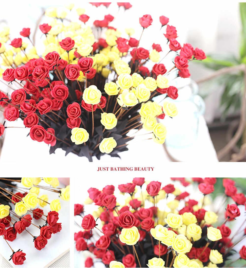PE artificiale Falso Fiori Floreale della Rosa Bouquet Da Sposa Da Sposa Ortensia Decorazione accessori decorazione della casa