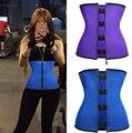 Mulheres Shaper Do Corpo Da Cintura Látex Trainer Trainer Cintura de Aço Desossado Underbust Cintura Corset Cinto de Emagrecimento Queimador de Gordura Da Barriga Shapewear