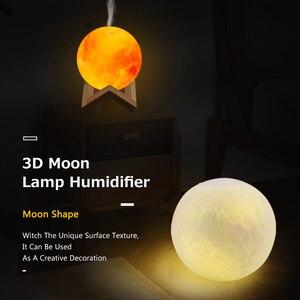 Image 2 - Ultradźwiękowy olejek eteryczny do nawilżacza dyfuzor do aromaterapii 880ml 3D lampa księżycowa światło z USB oczyszczacz rozpylający mgiełkę