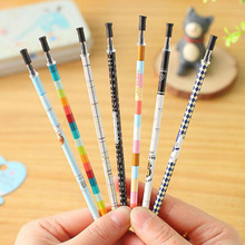 High Quality 80pcs/lot Gel Pen Refills Stationery School Office Writing Supplies Refill Portable 0.38mm Black Ink