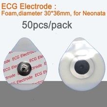 50 шт./лот для новорожденных одноразовые оснастки электро колодки Размер 30 мм* 36 мм