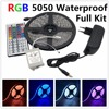 Led Strip Light 5050 RGB Tape Set Waterproof Ip65 300led 5m With 44key Remote Controller 12V
