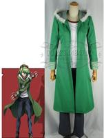[Custom Made] Fashion Anime Akame ga Uccidere! Costume Cosplay Lubbock Cappotto Verde Dropshipping