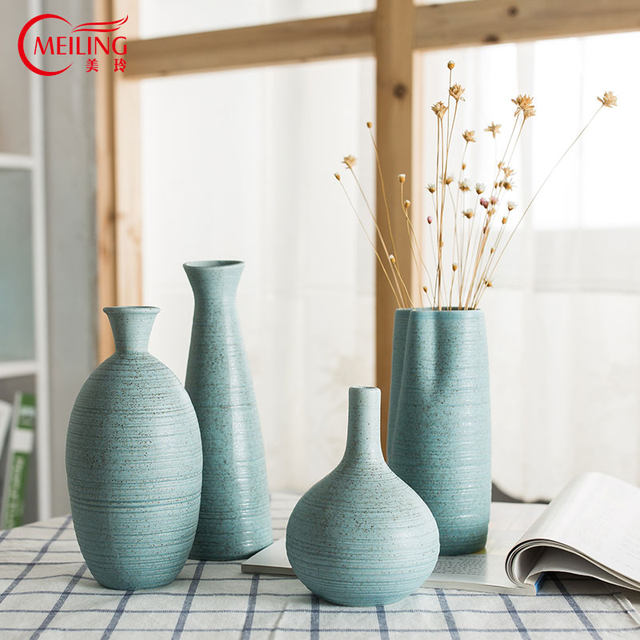 Online Shop Meiling Modern Light Blue Ceramic Vase For Centerpieces