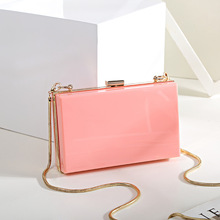 Solid Color Acrylic Evening Bag