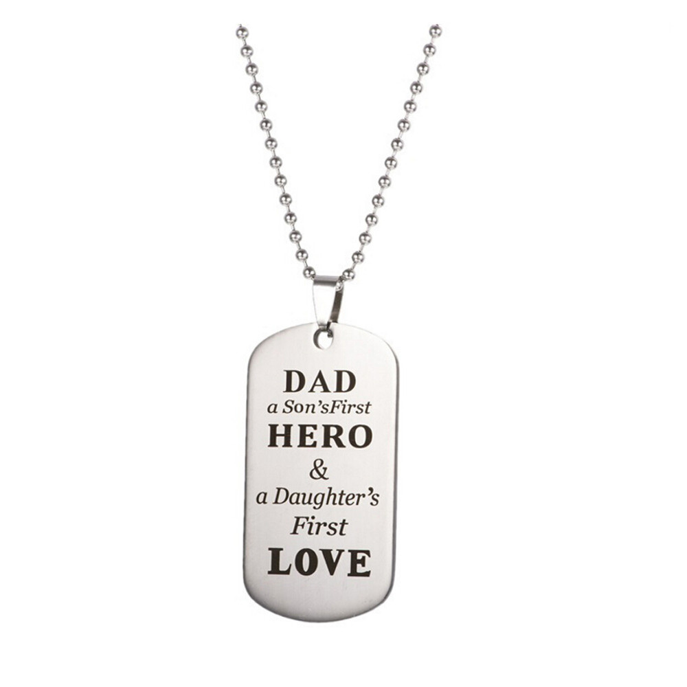 Susenstone Parents Related Popular Hot Fashion Keychain Military Father Day Family Love Stainless Steel Birthday Gifts In Chain Necklaces From Jewelry
