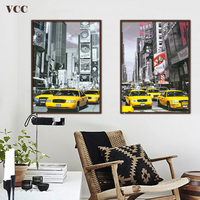 Free Shipping Canvas Painting City Car Picture Wall Pictures For Living Room Cuadros Decoracion Quadros De