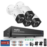 SANNCE 4 CH CCTV DIY Kit 1080N Security Camera System 4IN1 1080 N DVR Video Surveillance
