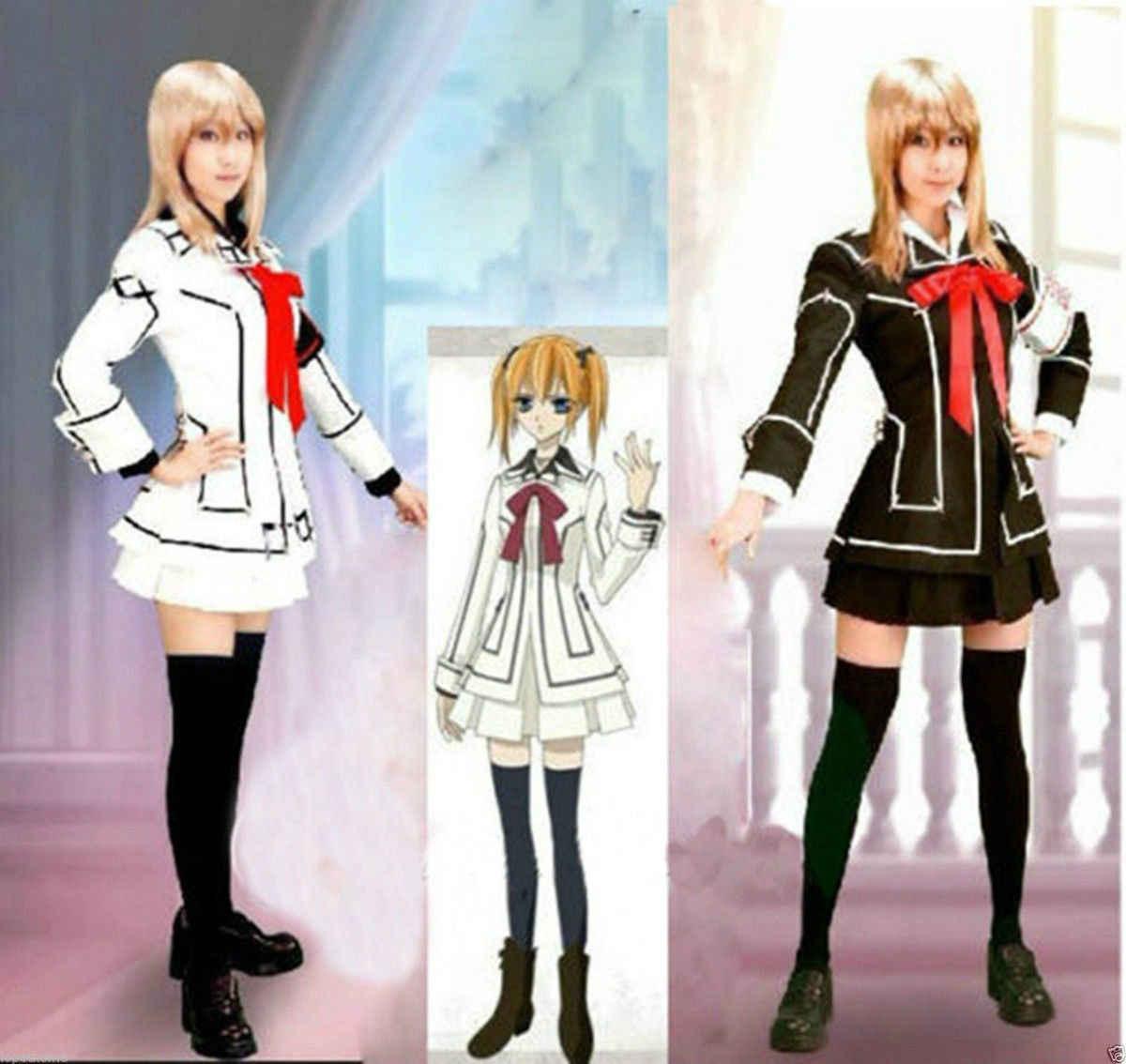 แวมไพร์อัศวินคอสเพลย์เครื่องแต่งกาย Yuki หรือสีดำสตรีสีขาวชุด uniform