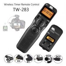 פיקסל TW 283 Wireless טיימר תריס שחרור (DC0 DC2 N3 E3 S1 S2) כבל עבור Canon Nikon Sony מצלמה TW283 VS RC 6