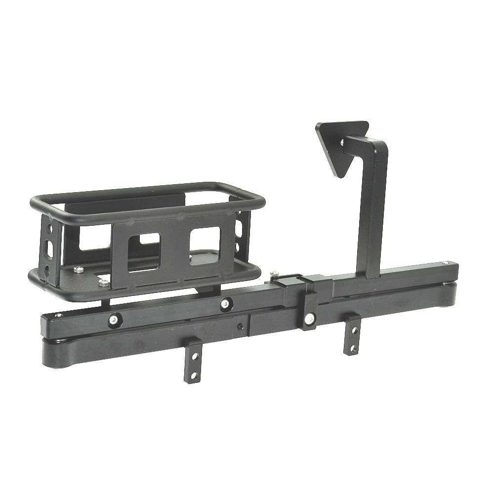 Metal Rear Bumper /& Spare Tire Rack Mount for D90 D110 1//10 RC Crawler Car