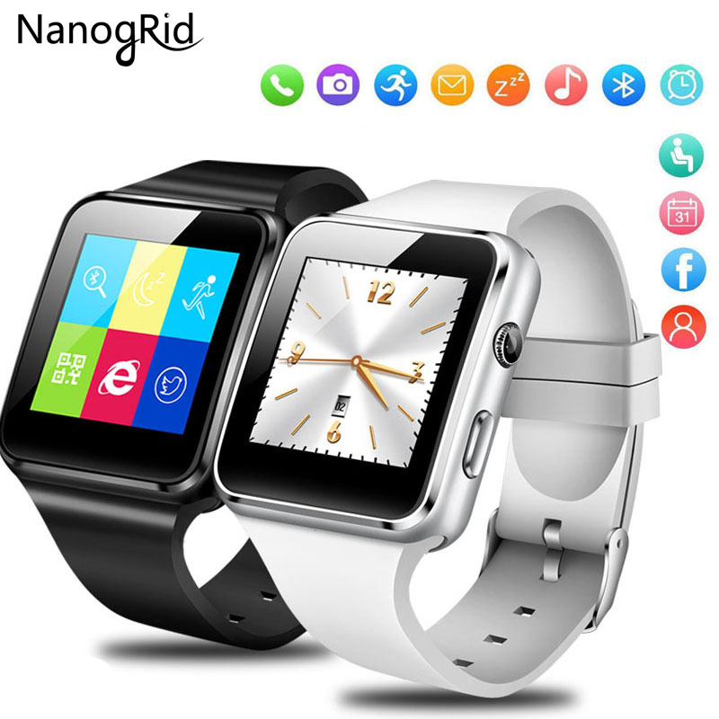 Bluetooth Smart Watch with Camera Touch Screen Support SIM TF Card Whatsapp X6 Smartwatch for iPhone
