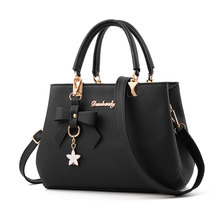 Woman Handbag Korean Satchels Female Pendant Tote Shoulder Bags Cute Crossbody Bags Femme Large Capacity PU Leather High Quality