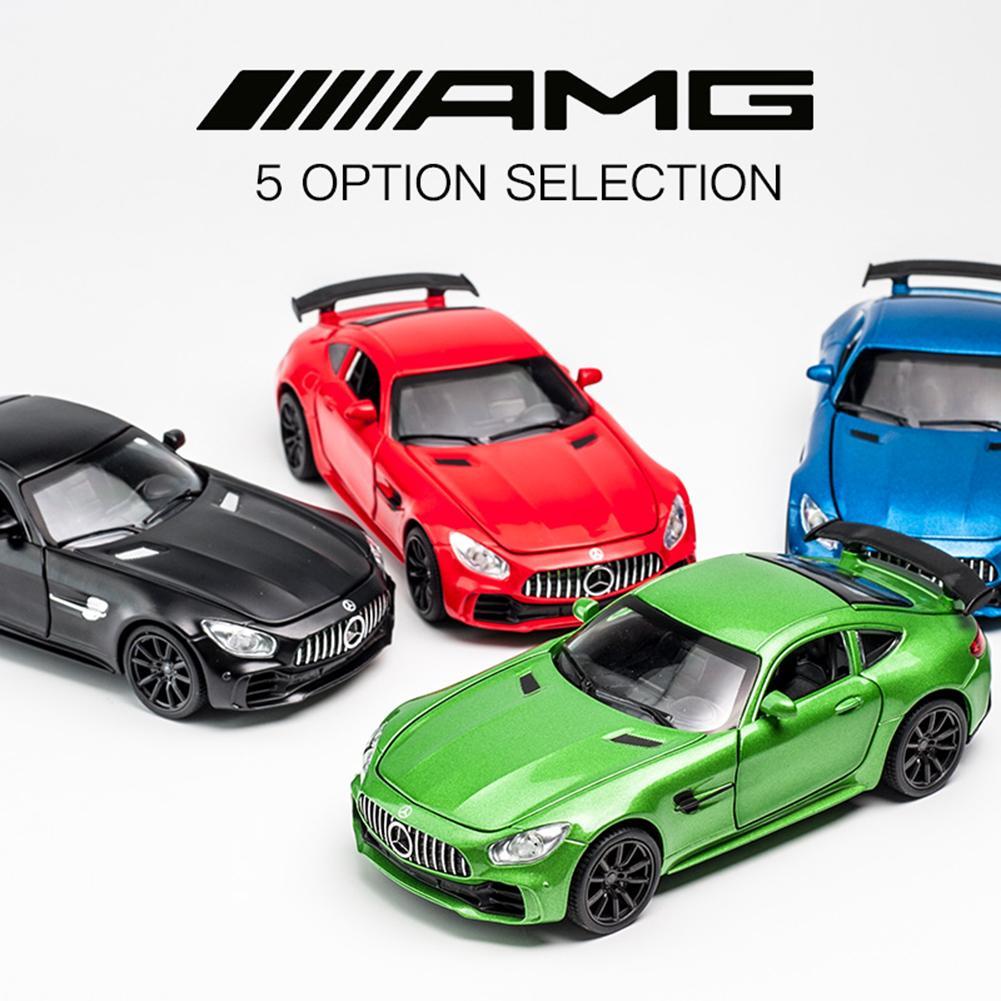 1:32 Benz AMG GTR модель спортивного автомобиля звук и свет сплава литья под давлением игрушечных автомобилей ...