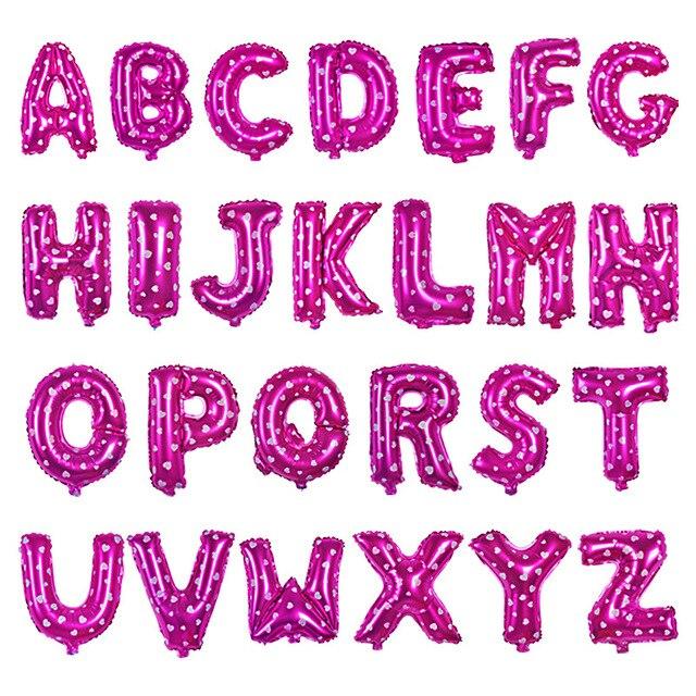 Hot Mini Zamówienie 4 Sztuk 16 Inch Rose Alphabet Letter Aluminium