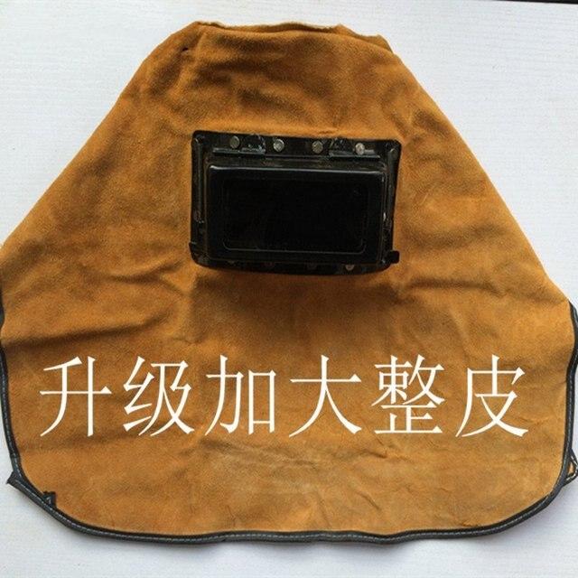 Кожаные сварщики защитная маска защитные очки маска защитная крышка анти-ослепления зеркало