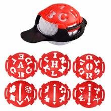 6 шт./компл. держатель мяча для гольфа маркер мульти-шаблон для рисования выравнивание знаки инструмент для знаков Гольф Scriber аксессуары
