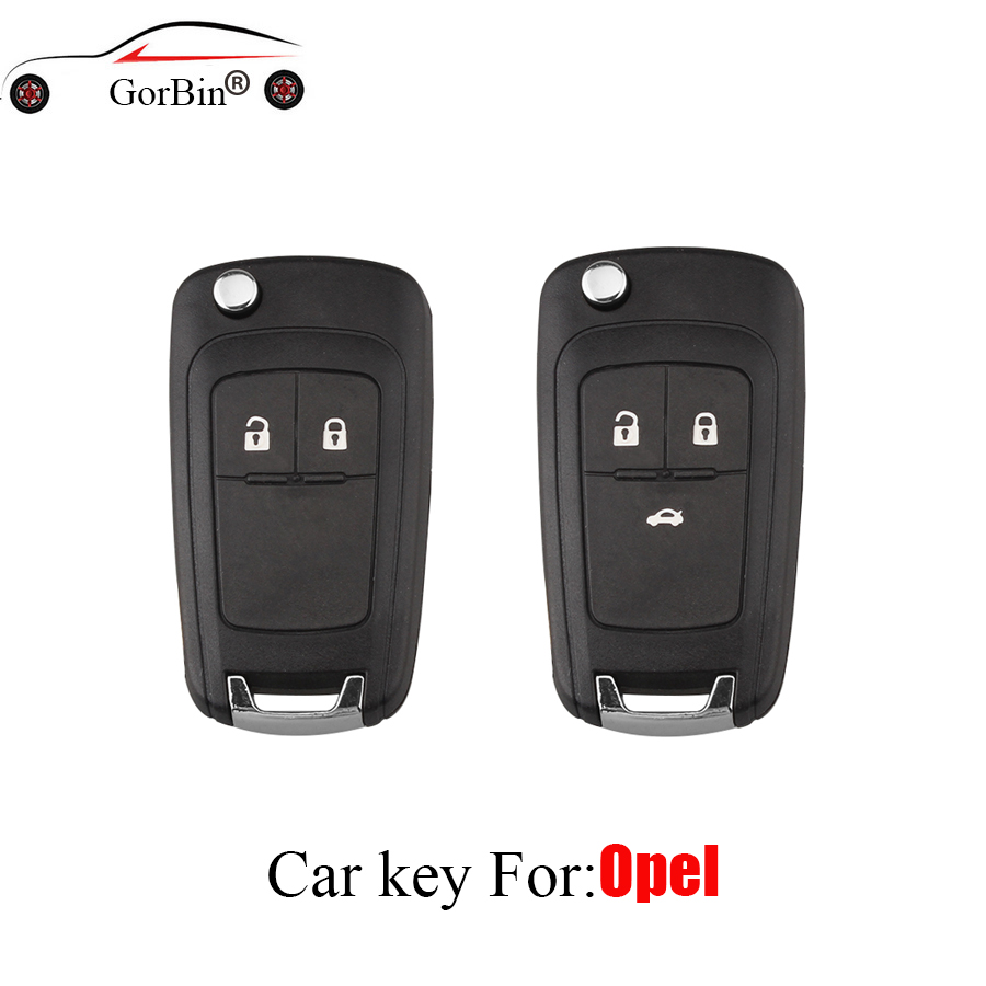 GORBIN Remote Key Case Shell for VAUXHALL OPEL Insignia Astra J Zafira C Mokka Car Control Fob Cover Housing HU100 Blade (China)