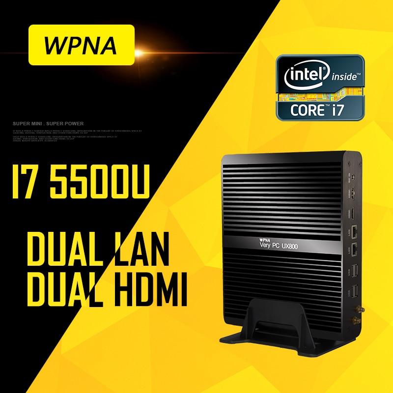 WPNA Nettop UX870 intel core i7 5500U 7500U HD Graphics 5500/620 16GB 512GB SSD WIFI mini pc windows Computer office