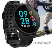 T3 Smart watch waterproof Activity Fitness tracker HR Blood oxygen pressure Clock Men women smartwatch PK V11 4.6