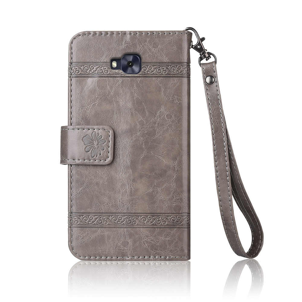 b7ae53b9f548 ... Flip Leather Case For ASUS ZenFone Live ZB553KL Fundas Printed Flower  100% Special wallet stand ...