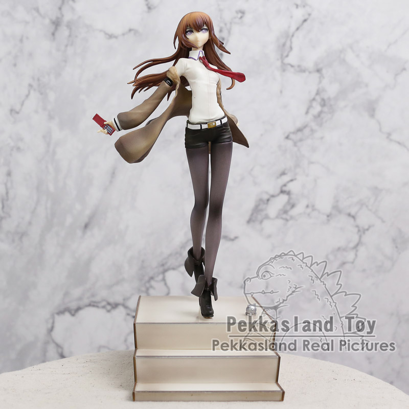 Steins Gate Makise Kurisu Laboratory Member 004 1/8 Scale Painted Figure Collectible Model Toy 26CM