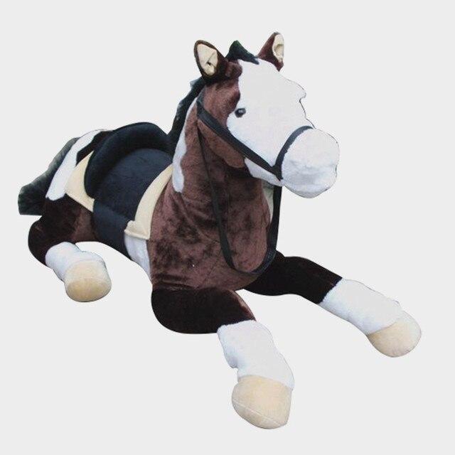 Dorimytrader Quality Simulation Animal Horse Plush Toy Large Stuffed