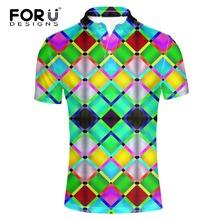 FORUDESIGNS High Quality Bright-colored Clothes Polo Shirt for Men Fashion spandex Quick Dry Short Sleeve Male Casual