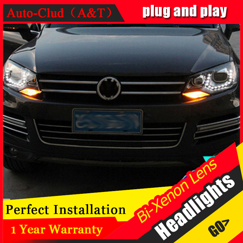 Auto Clud 2011 2014 For vw touareg headlights car styling LED for vw touareg DRL tear
