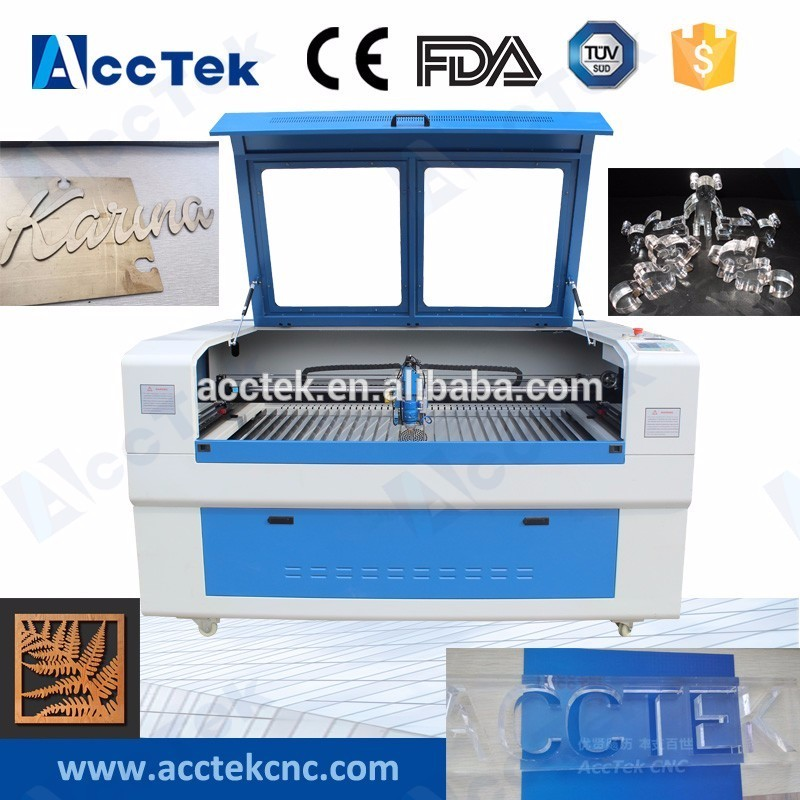 AKJ1390H AccTek speedy sheet metal laser cutting machine price for plywood glass plastic blanket with high quality