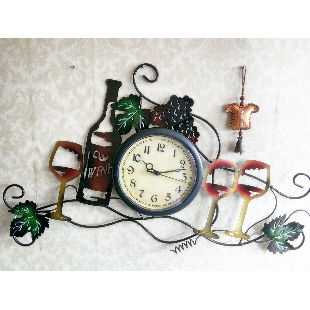 Large Metal Iron Art Wall Clock Modern Design Home Decor