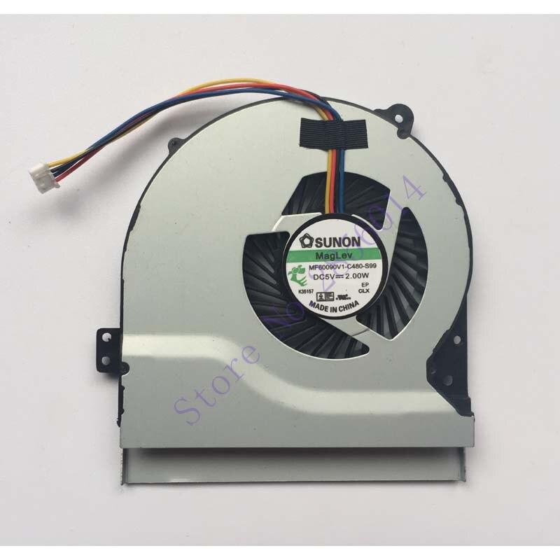 New cpu Cooling Fan For Asus X550 X550V X550C X550VC X450 X450CA X450V X450C A450C K552V A550V MF75070V1-C090-S9A Cooler laptop cpu cooling fan for asus x455ld x455cc a455 a455l k455 x555 sunon mf60070v1 c370 s9a