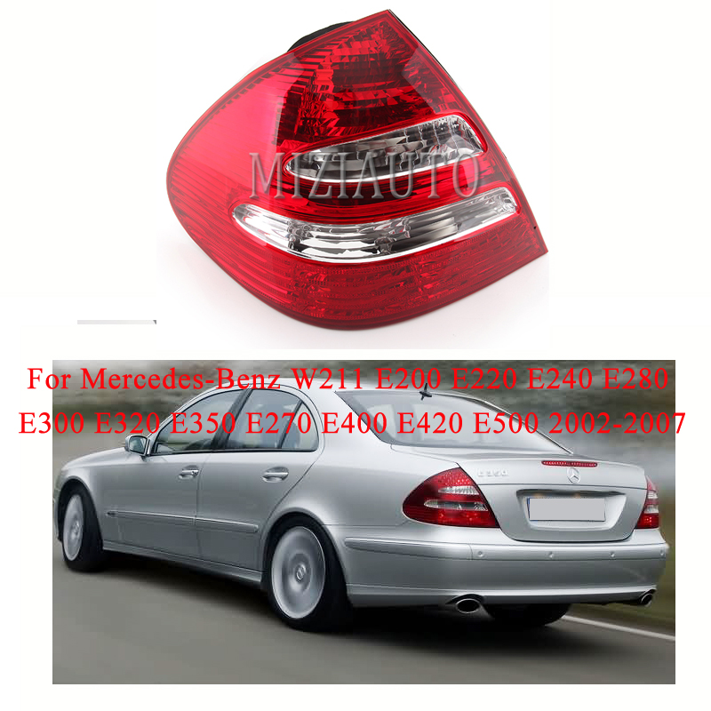 MIZIAUTO חיצוני זנב אור עבור מרצדס-בנץ W211 E200 E220 E240 E280 E300 E320 E350 E270 E400 E420 E500 02-07 בלם מנורה אין הנורה