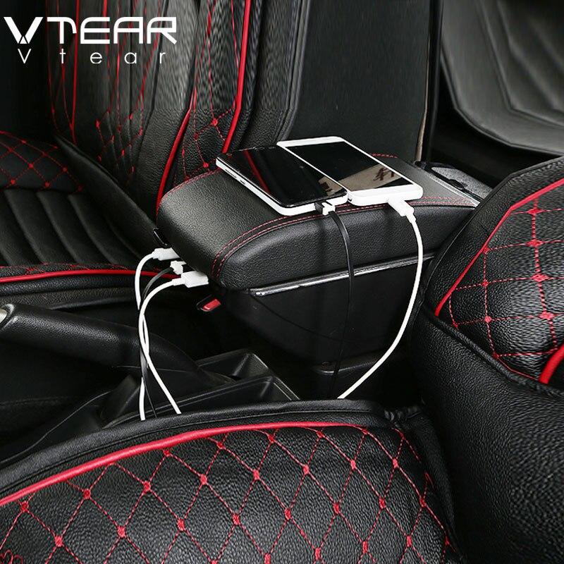 Vtear トヨタアベンシスのためのアームレストボックス USB 充電高揚二重層中央店コンテンツカップホルダー灰皿アクセサリー  グループ上の 自動車 &バイク からの アームレスト の中 3